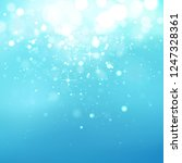 blue winter glitter background | Shutterstock .eps vector #1247328361
