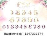 gold glitter letter alphabet.... | Shutterstock . vector #1247331874