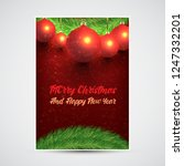 christmas design with red... | Shutterstock .eps vector #1247332201