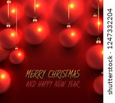 christmas design with red... | Shutterstock .eps vector #1247332204