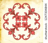 retro baroque decorations... | Shutterstock .eps vector #1247334844
