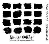 set of black brush stroke and... | Shutterstock .eps vector #1247334937