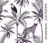 tropical vintage botanical... | Shutterstock .eps vector #1247335594