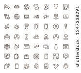 game icon set. collection of...   Shutterstock .eps vector #1247338291