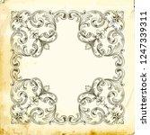 retro baroque decorations... | Shutterstock .eps vector #1247339311