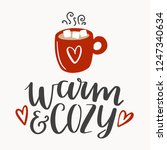 warm and cozy lettering with... | Shutterstock .eps vector #1247340634
