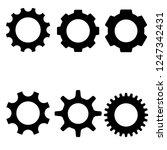 gear icon  logo on white... | Shutterstock .eps vector #1247342431