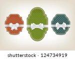 three vector vintage style... | Shutterstock .eps vector #124734919