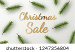 christmas sale. promotion... | Shutterstock .eps vector #1247356804