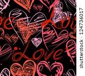 grunge elegance ink splash... | Shutterstock .eps vector #124736017