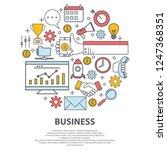 business centre vector concept. ... | Shutterstock .eps vector #1247368351