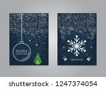 merry christmas and happy new... | Shutterstock .eps vector #1247374054