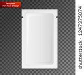 blank white plastic sachet for... | Shutterstock .eps vector #1247375074
