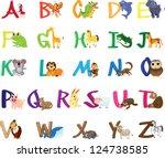 illustration abc animal set | Shutterstock .eps vector #124738585