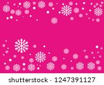snowflakes and circles border... | Shutterstock .eps vector #1247391127