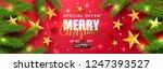 merry christmas sale.universal... | Shutterstock .eps vector #1247393527