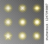 golden twinkle sparkle vector... | Shutterstock .eps vector #1247393887