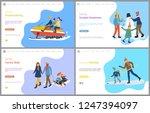 hockey training  sculpture of... | Shutterstock .eps vector #1247394097