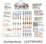 big family character set for... | Shutterstock .eps vector #1247394394