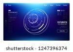 3d futuristic technology... | Shutterstock .eps vector #1247396374