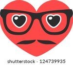 vector hipster heart   separate ...   Shutterstock .eps vector #124739935