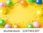 heap of colorful balloons ... | Shutterstock . vector #1247401207