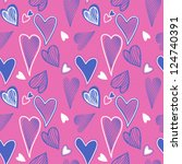 colorful seamless valentine... | Shutterstock .eps vector #124740391