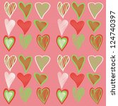 colorful seamless valentine... | Shutterstock .eps vector #124740397