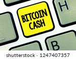 word writing text bitcoin cash. ... | Shutterstock . vector #1247407357