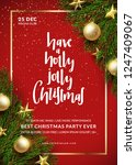 christmas party flyer design.... | Shutterstock .eps vector #1247409067