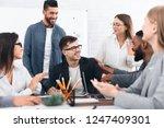 business colleagues... | Shutterstock . vector #1247409301