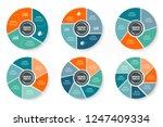 vector infographics template... | Shutterstock .eps vector #1247409334