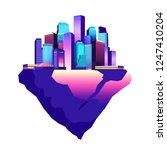 vector illustration fantastic... | Shutterstock .eps vector #1247410204