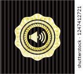sound icon inside golden badge... | Shutterstock .eps vector #1247412721