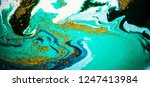 turquoise with gold powder.... | Shutterstock . vector #1247413984