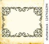 retro baroque decorations... | Shutterstock .eps vector #1247416294