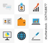 job icons flat style set with... | Shutterstock .eps vector #1247418877