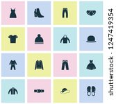 garment icons set with boots ... | Shutterstock . vector #1247419354