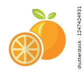 vector orange illustration.... | Shutterstock .eps vector #1247424931