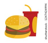 vector fast food illustration.... | Shutterstock .eps vector #1247424994