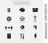 garage car auto parts...   Shutterstock .eps vector #1247425174