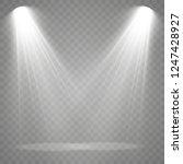 the spotlight shines on the... | Shutterstock .eps vector #1247428927