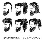 mens set hairstyles and hirecut ... | Shutterstock .eps vector #1247429977