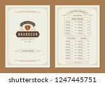 coffee menu design brochure... | Shutterstock .eps vector #1247445751
