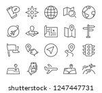 set of world map vector line... | Shutterstock .eps vector #1247447731