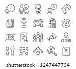 set of job search icons  such... | Shutterstock .eps vector #1247447734