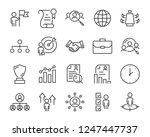 set of job search icons  such... | Shutterstock .eps vector #1247447737