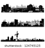 vector illustration.city... | Shutterstock .eps vector #124745125
