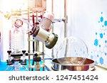 laboratory rotary evaporator...   Shutterstock . vector #1247451424