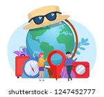 travel  tourism concept. small... | Shutterstock .eps vector #1247452777